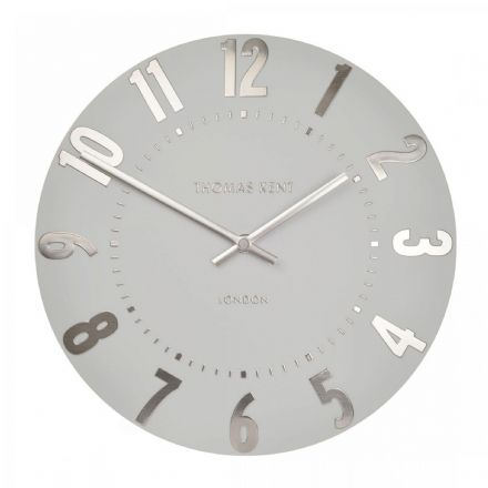 "Thomas Kent 20"" Mulberry Silver Cloud Wall Clock"